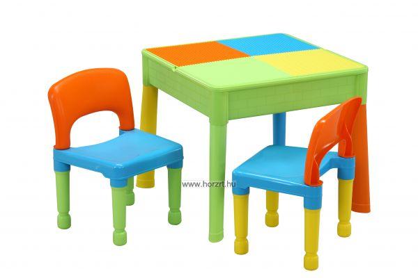 homokozó-vizező 2 székkel